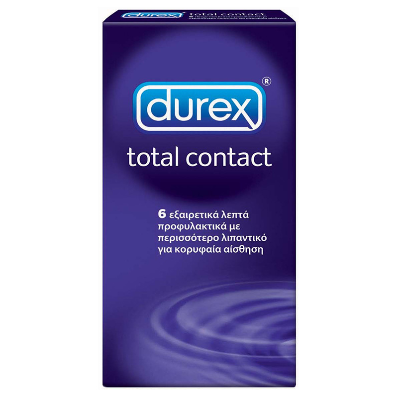 Durex Total Contact Προφυλακτικά, 6 τεμάχια Mavrommatihealth - Overespa