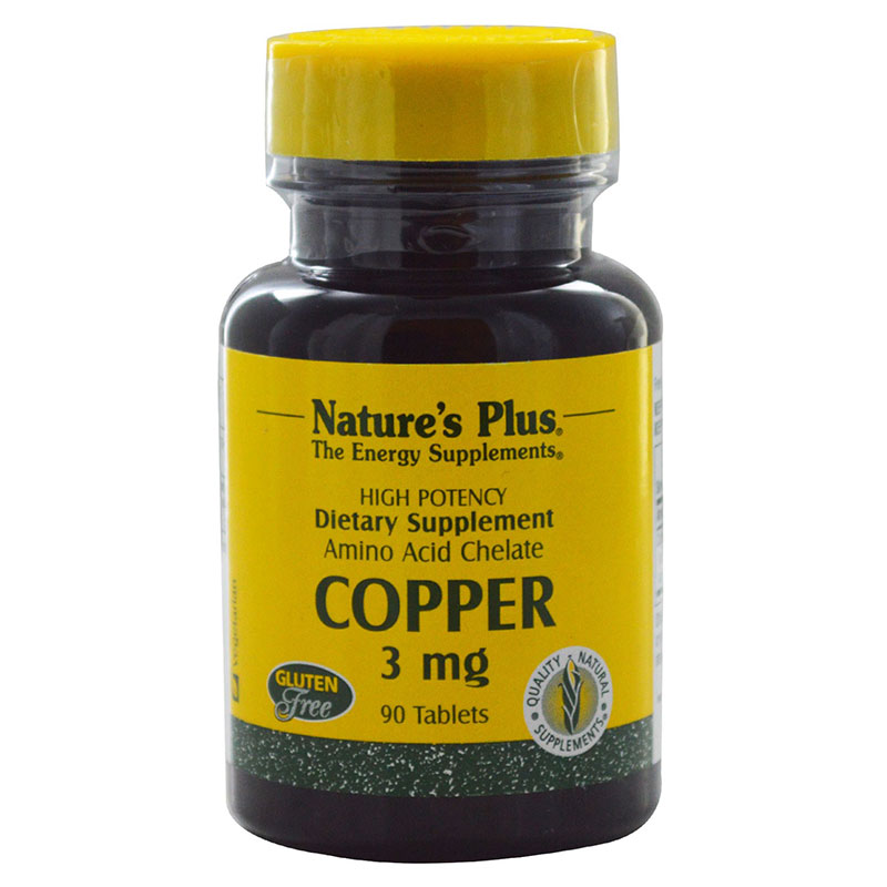 Nature`s plus copper 3 mg tablets 90 -mavrommatihealth overespa