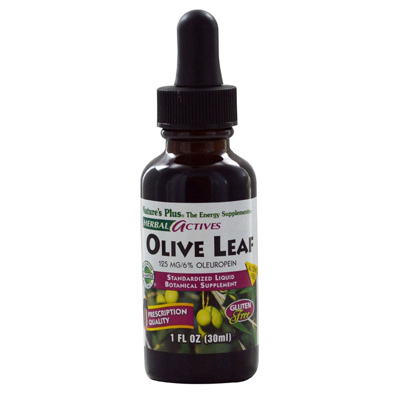 Nature`s plus liquid olive leaf 125 mg 1 oz -mavrommatihealth overespa