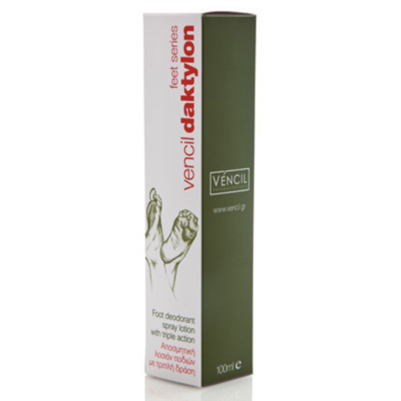 Vencil daktylon foot deodorant spray lotion 100ml -mavrommatihealth overespa