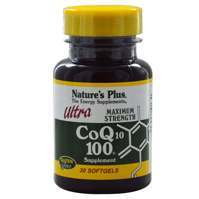 nature's plus Co Q10 100mg Αντιοξειδωτική δράση, 100mg 30caps Mavrommatihealth Overespa