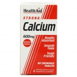 health aid Strong Calcium 600mg, Chewable 60tabs Δισκία για τον έλεγχο του νευρικού συστήματος Mavrommatihealth Overespa